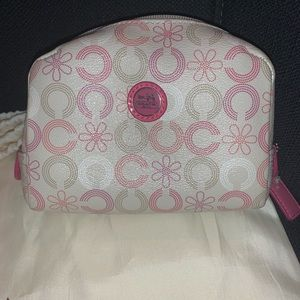 Small Authentic Coach Cosmetic Pouch